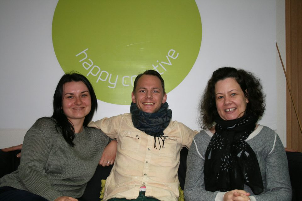 Happy Creative continues growing at a pace! Snr account manager, Morag Dumbarton;Developer, Sylwia Lukjanowsk; digital marketing executive, Chad Seabrook