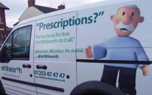 The Whitties Family Whitworth Pharmacy  years, milestone, the whitties, Whitworth, family, mascots, characters, pharmacy, branding, prescription, multi media, medium, wraps, vehicles, radio,