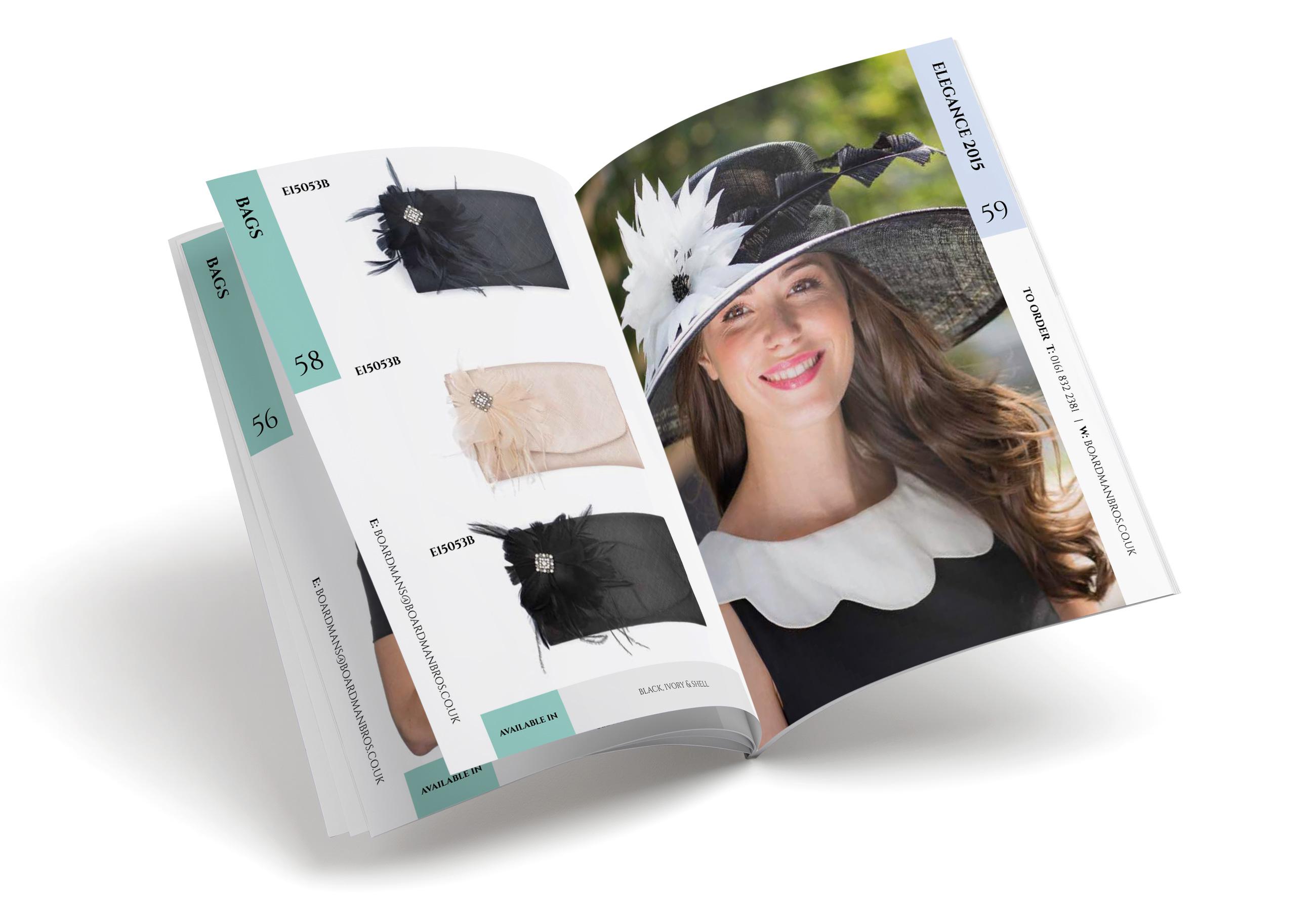 Boardmans catalogue design example spread