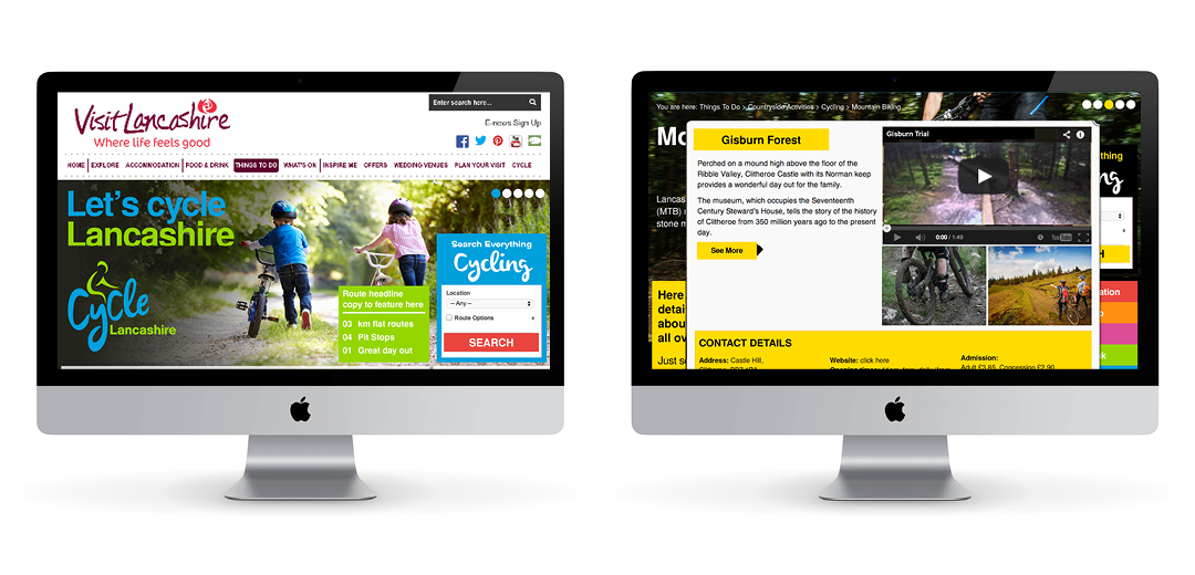Cycle Lancashire website design