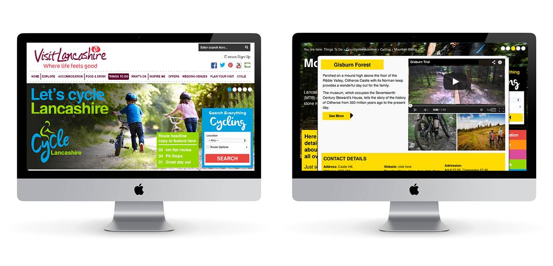 Cycle Lancashire website design