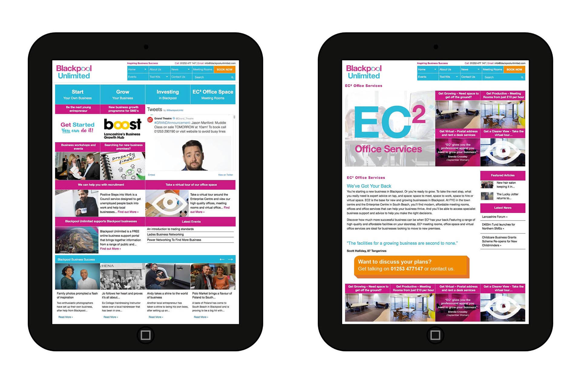 Brand Building & Website – Blackpool Unlimited