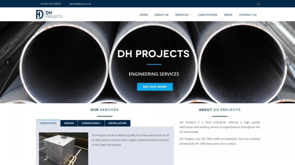 DH Projects Website Design