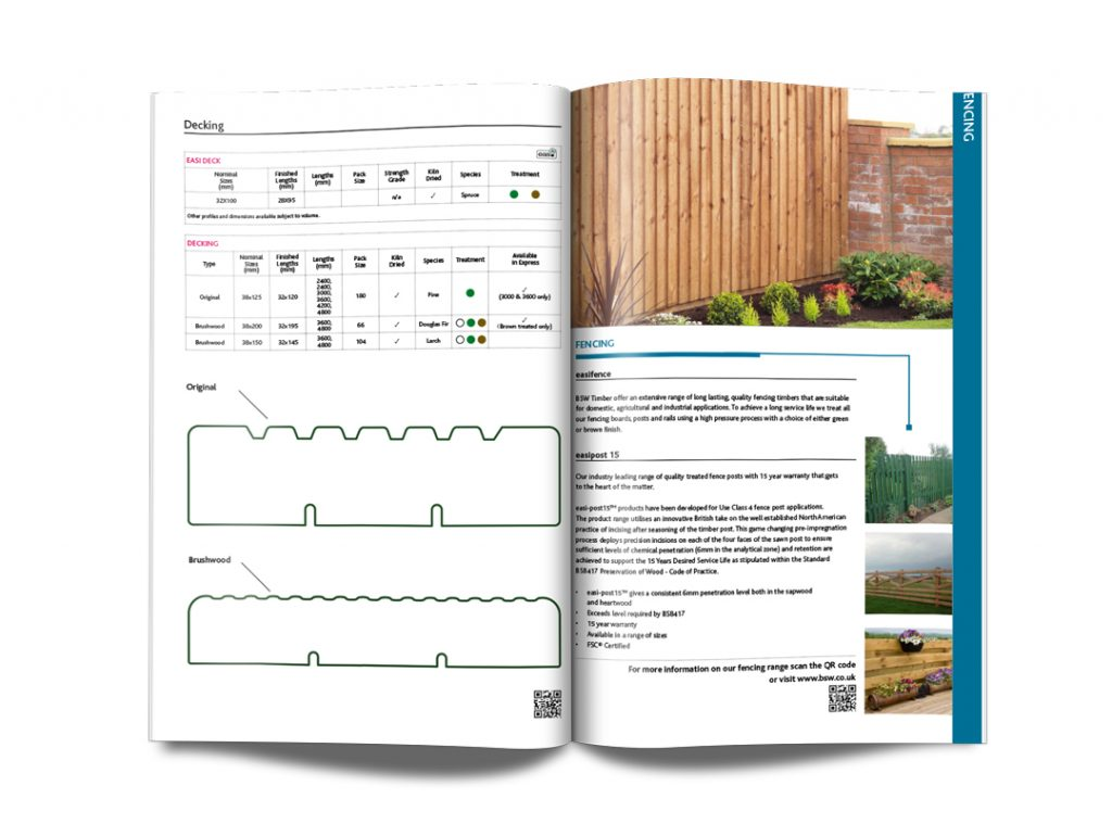 BSW Timber Brochure Design example spread