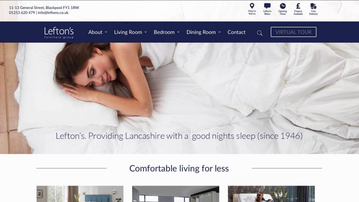 Lefton's Furniture Website Design