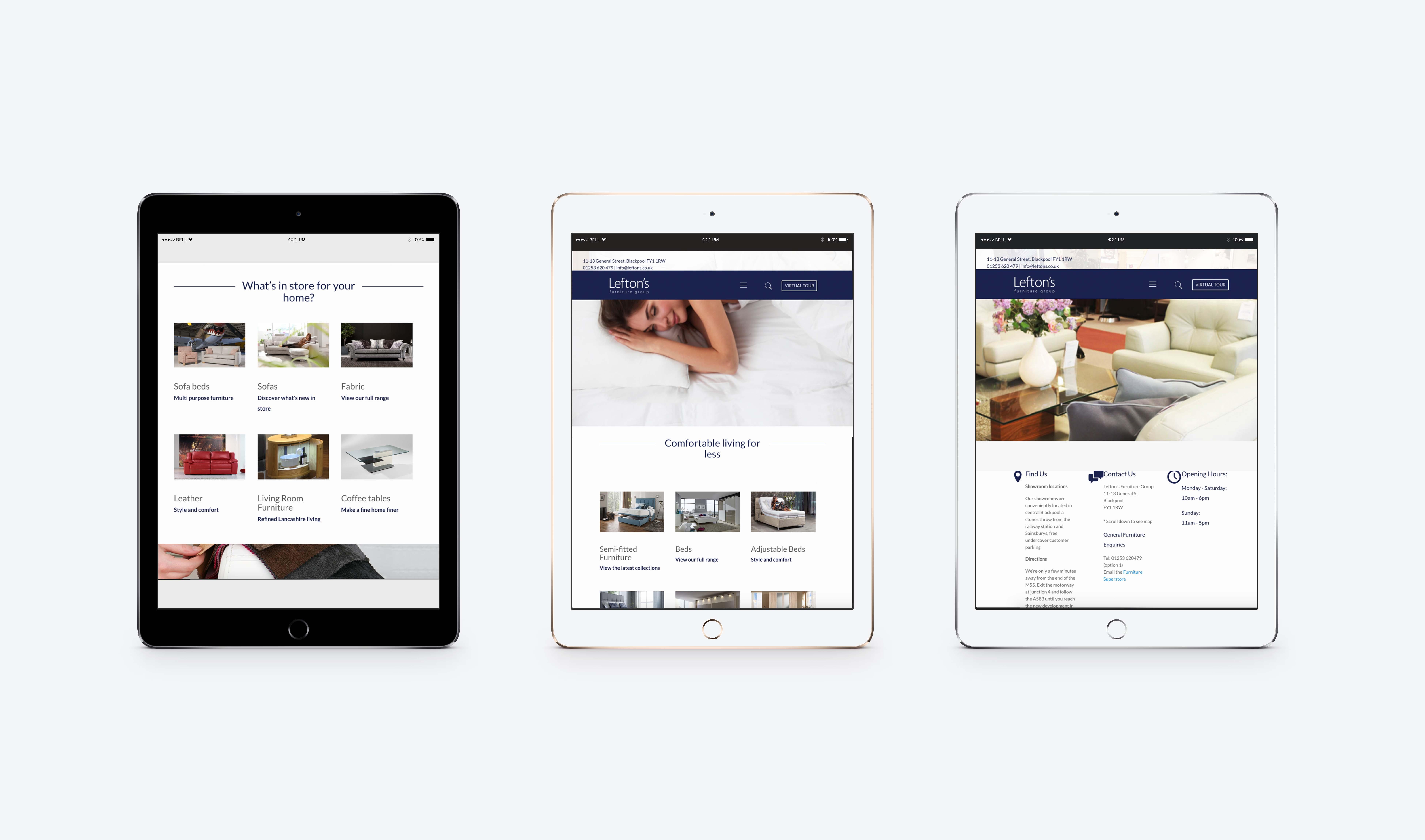 Website – Lefton's Furniture Group