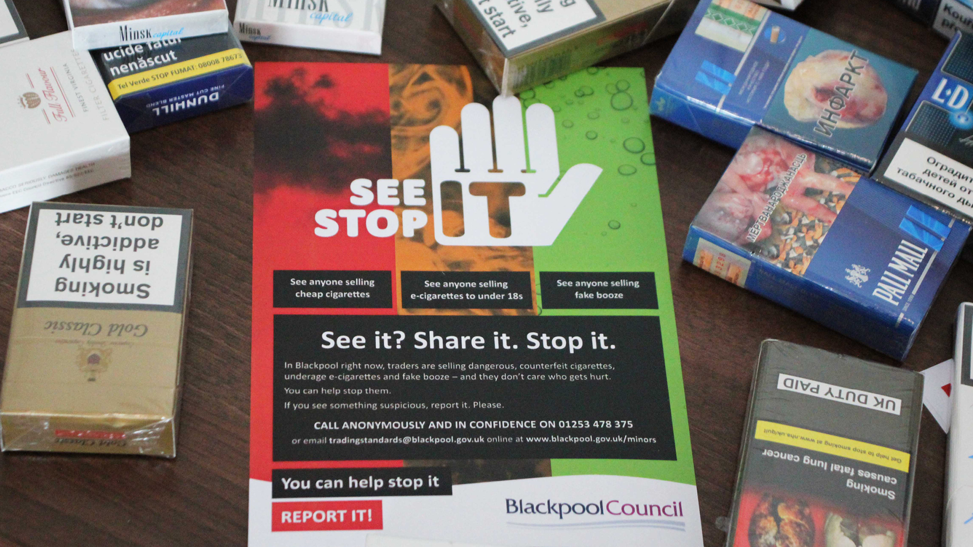 See it Stop It Branding Campaign – Blackpool Council