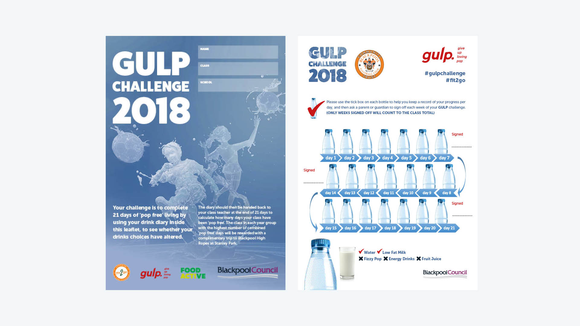 GULP Campaign Leaflet Design for Blackpool Public Health