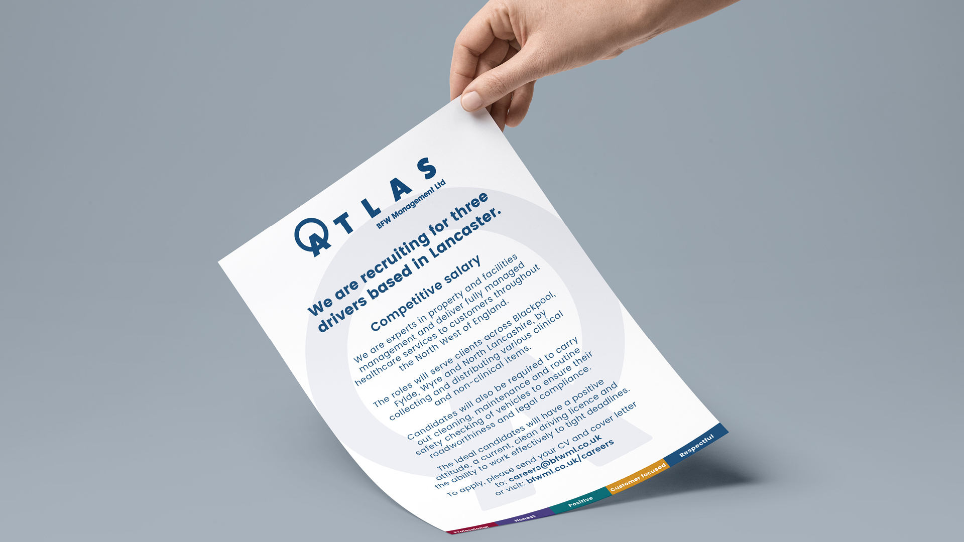 Atlas Management advert design