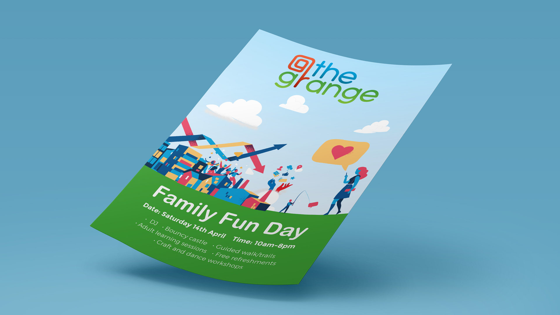 At the Grange Leaflet Design