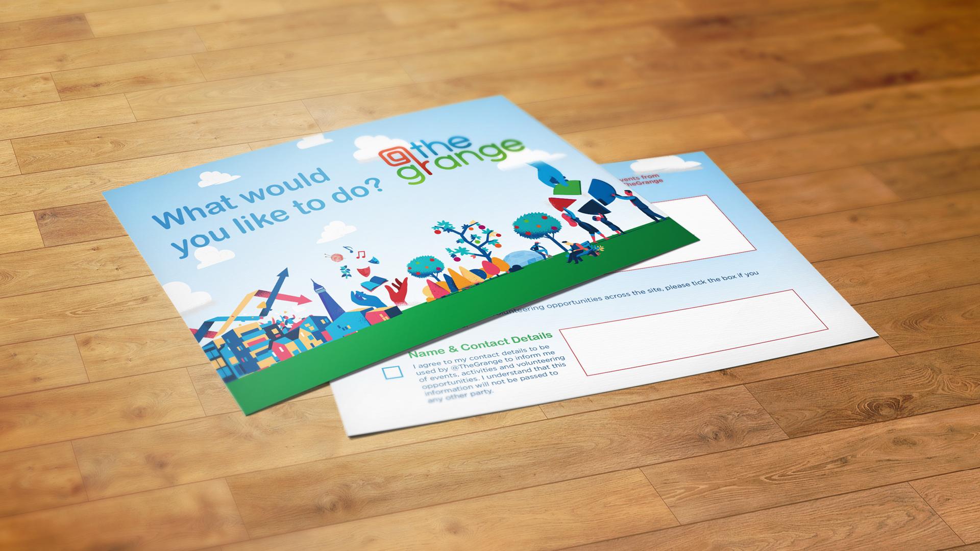 At the Grange leaflet design