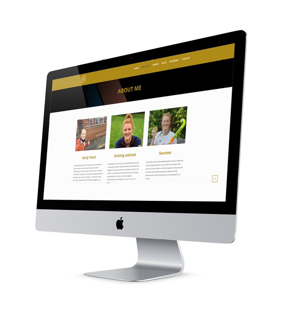 Nicola White Hockey Website Design